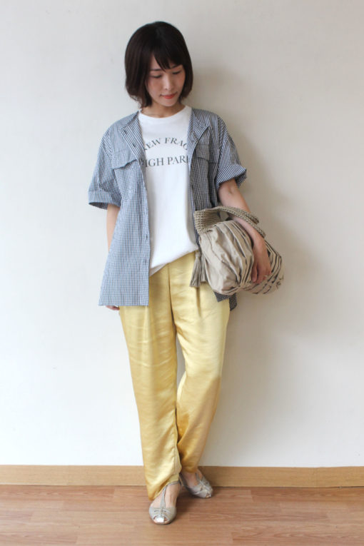 ブランブルーミニュイ(Blanc Bleu Minuit)モノトーンWポケットシャツ~♪ 画像