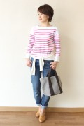 MACPHEE(マカフィー)<br />TOMORROWLAND (トゥモローランド) バスクシャツ/ピンク